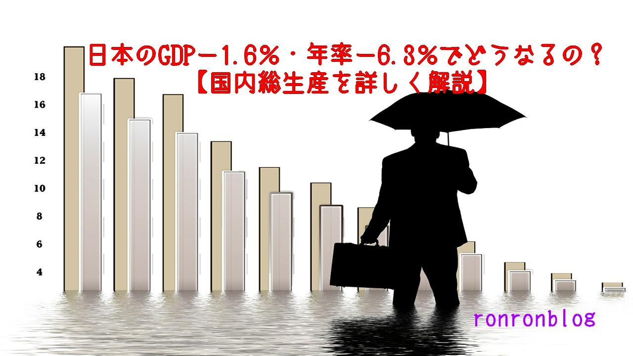 日本のGDPー1.6%・年率ー6.3%でどうなるの?【国内総生産を詳しく解説】