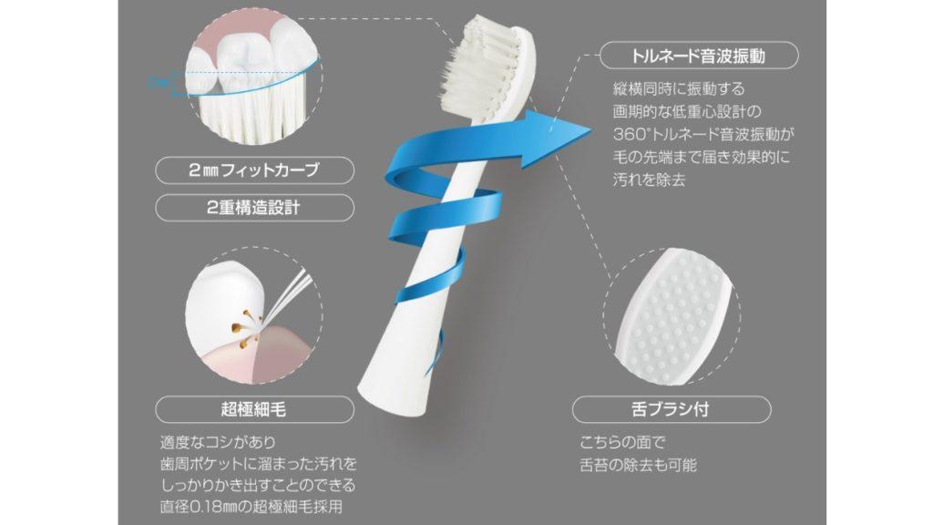 舌苔の除去もできる歯ブラシ