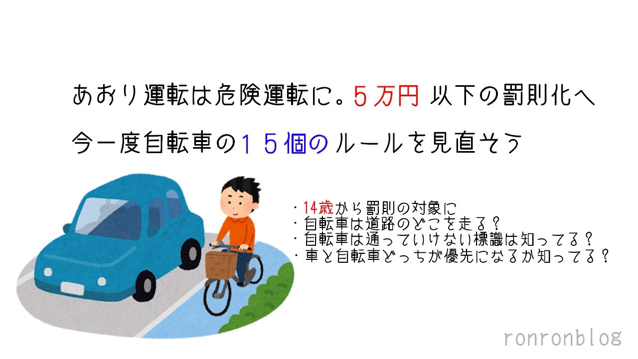 あおり運転は危険運転に。5万円以下の罰則化へ